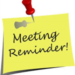Meeting reminder clip art
