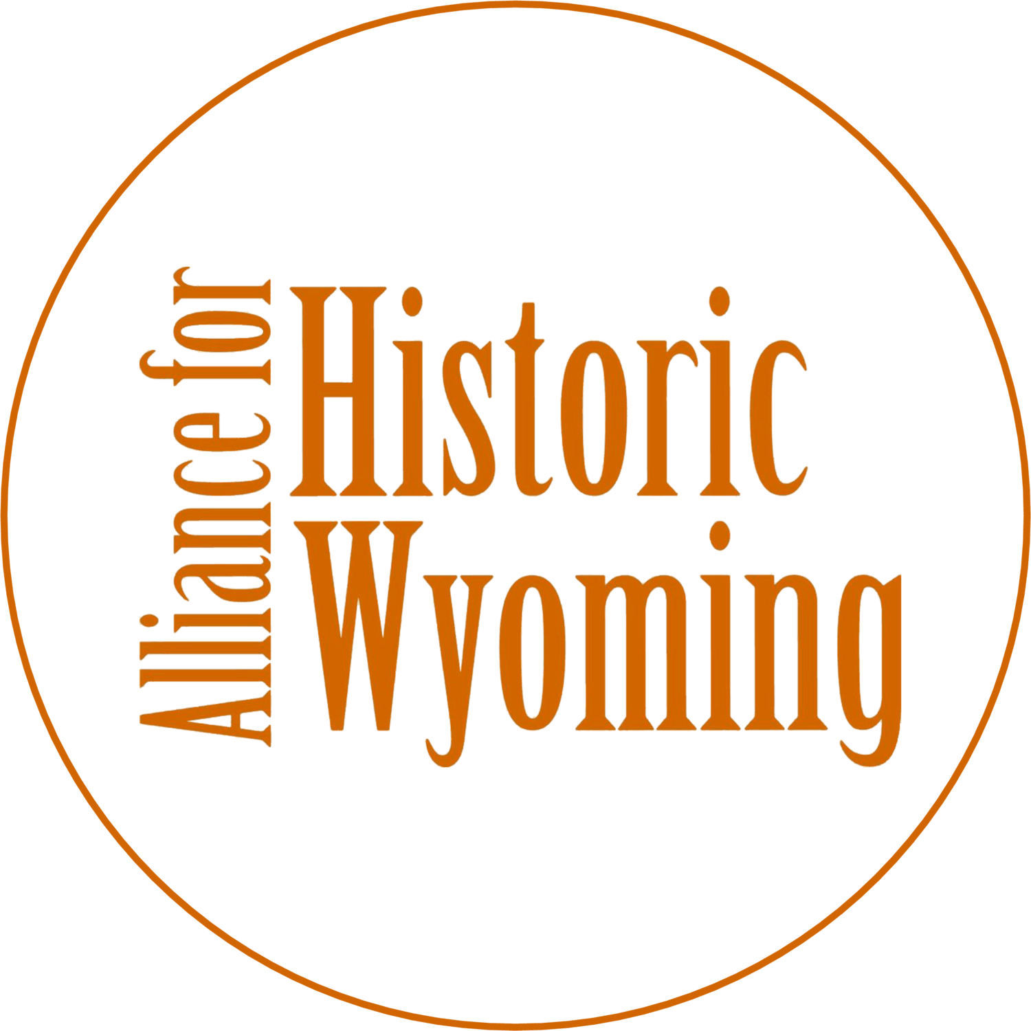 Alliance for Historic Wyoming Circle Logo
