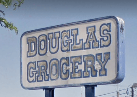 Douglas Grocery Sign
